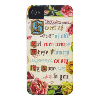 Valentine Roses And Poem iPhone 4 Case-Mate Case