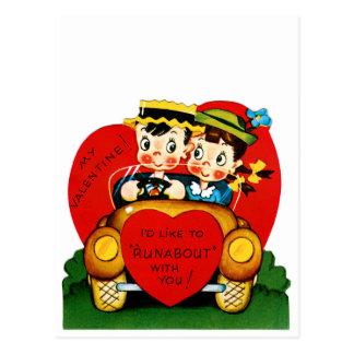 Valentine Runabout Postcard