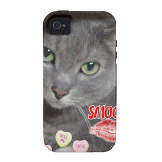 Valentine Russian Blue Cat iPhone 4 Cover