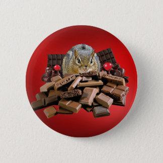 Valentine's Day Chocolate Chipmunk 2 Inch Round Button