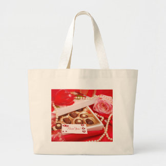 Valentine' S Day: Coffee & Chocolate Eighteen Large Tote Bag