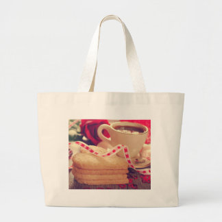 Valentine' S Day: Coffee & Chocolate NIneteen Large Tote Bag