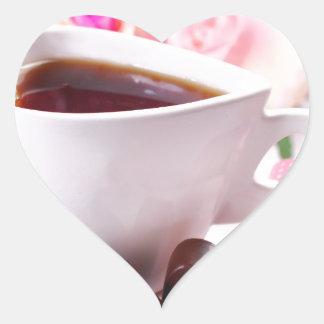 Valentine' S Day: Coffee & Chocolate Seventeen Heart Sticker