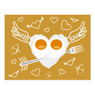 Valentine s day funny heart Custom Postcard