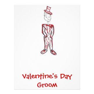 Valentine s Day Groom Custom Letterhead