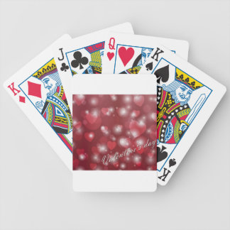 Valentine s day red heart for the romantic bicycle playing cards