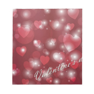 Valentine s day red heart for the romantic notepad