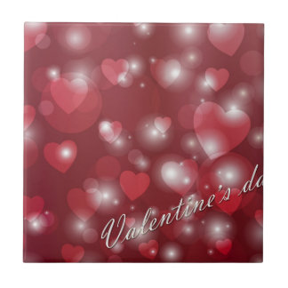Valentine s day red heart for the romantic tile