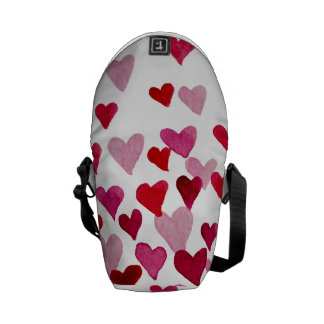 Valentine's Day Watercolor Hearts – pink Commuter Bags