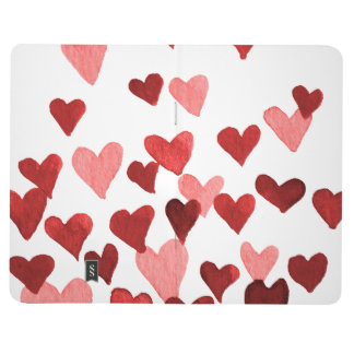 Valentine's Day Watercolor Hearts – red Journal