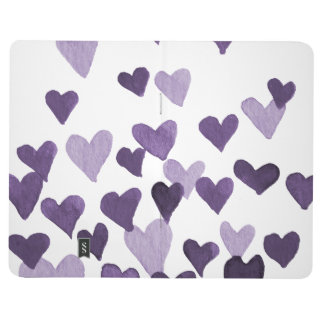 Valentine's Day Watercolor Hearts – ultra violet Journal