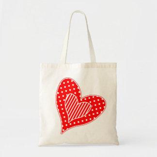 Valentine's Hearts Budget Tote Bag