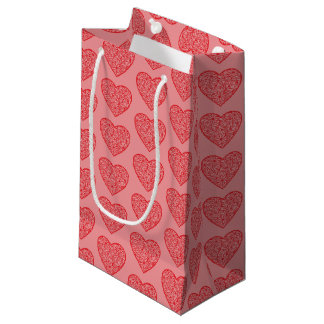 Valentine's Red Hearts Small Gift Bag