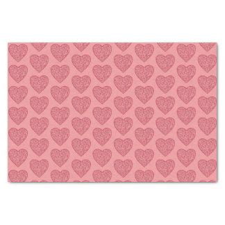 Valentine's Red Hearts Tissue Paper
