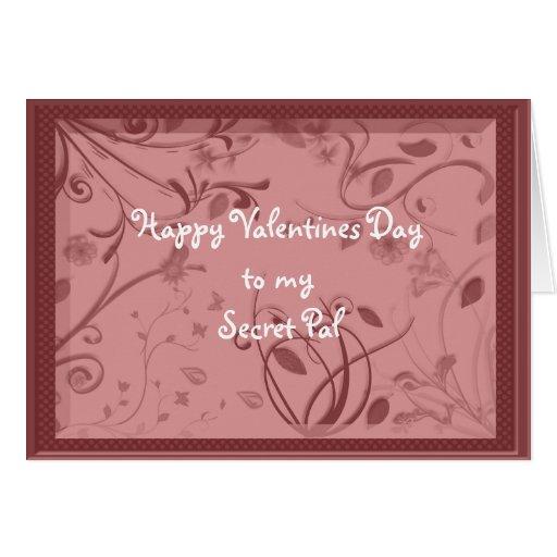 Valentine Secret Pal Greeting Cards