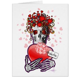 Valentine Skull Love Card