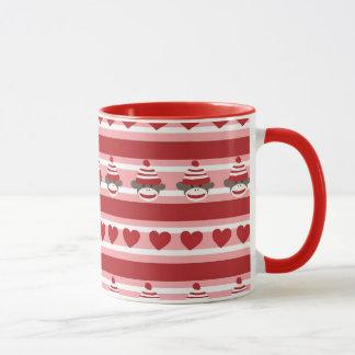 Valentine Sock Monkey Stripes Mug