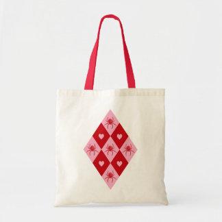 Valentine Spiders Budget Tote Bag