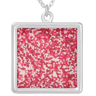 Valentine Sprinkles Silver Plated Necklace