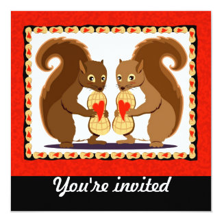 Valentine squirrels card