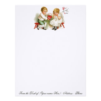 VALENTINE STATIONERY ON LINEN PAPER STOCK - GIFTS