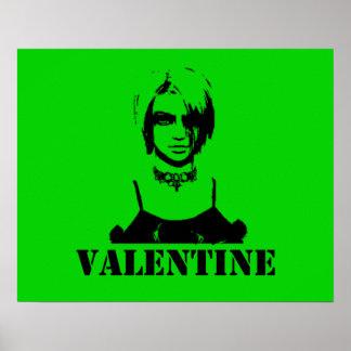 Valentine (Stenciled) Poster