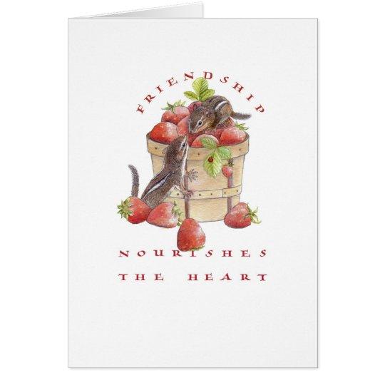 Valentine/Strawberry Chipmunks Card