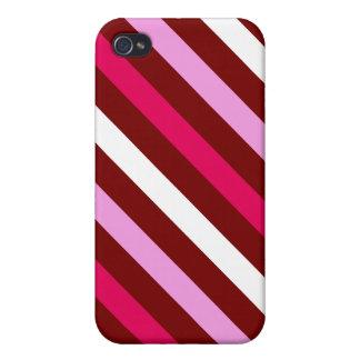 Valentine Stripes iPhone 4 Cover