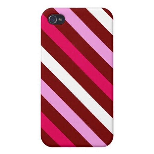 Valentine Stripes iPhone 4 Cases