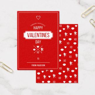 Valentine Symbols Classroom Valentine Card 100pk
