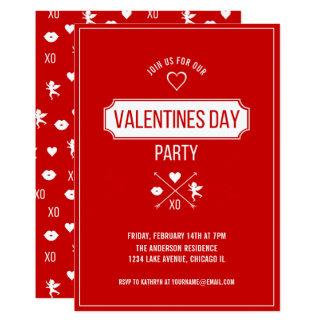 Valentine Symbols Valentine's Day Party Card