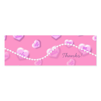 Valentine Thank You Tags Business Card Template