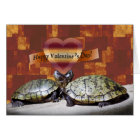 Valentine, Two Turtles, Heart Shape Card