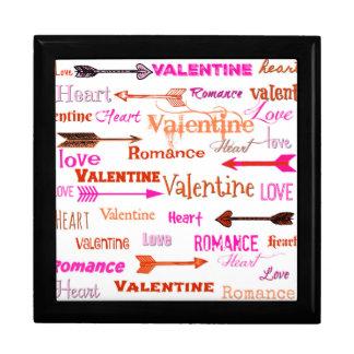 Valentine Typography Gift Box