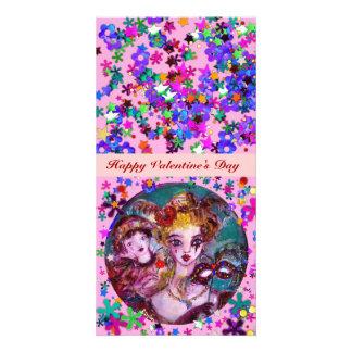 VALENTINE VENETIAN MASQUERADE MASKS CUSTOM PHOTO CARD