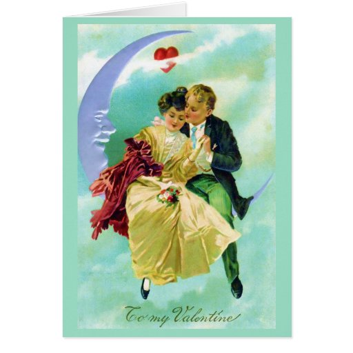 Valentine Victorian Couple Love Card