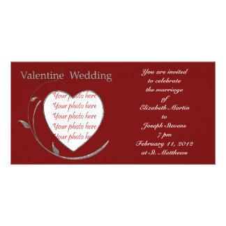 Valentine Wedding Photo card