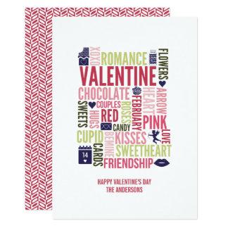Valentine Words Valentine's Day Card