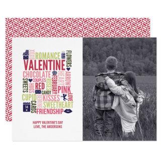 Valentine Words Valentine's Day Photo Card
