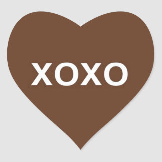 Valentine XOXO Heart Stickers © 2011 M. Martz