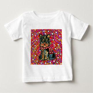Valentine Yorkie Poo Baby T-Shirt