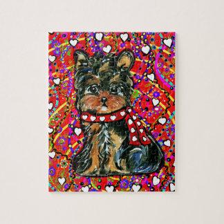 Valentine Yorkie Poo Jigsaw Puzzle