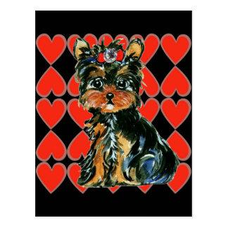 Valentine Yorkie Poo Postcard
