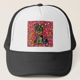 Valentine Yorkie Poo Trucker Hat
