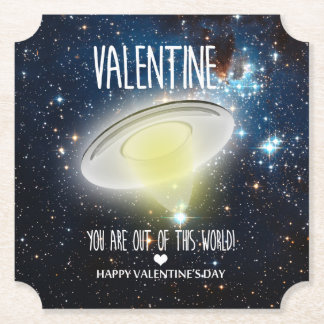 Valentine, you are out of this world! paper coaster