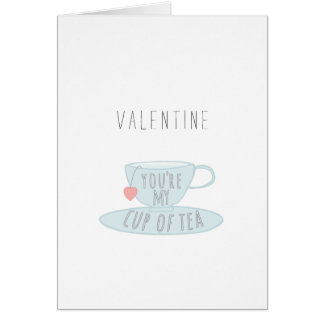 Valentine You're My Cup of Tea Illustration Card