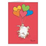 Valentines À L'ENVERS de CAT par Boynton Carte De Vœux