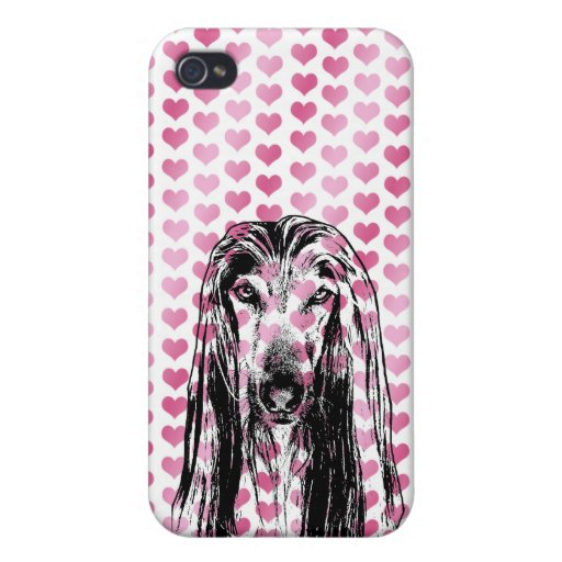 Valentines - Afghan Silhouette iPhone 4 Case