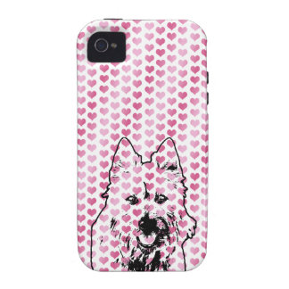 Valentines - Australian Terrier Silhouette iPhone 4 Covers