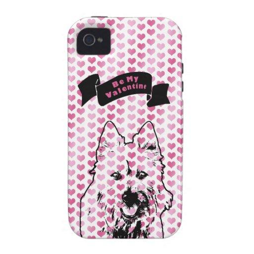 Valentines - Australian Terrier Silhouette iPhone 4/4S Cases